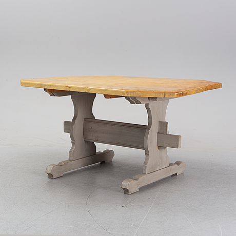 A painted table, late 20th century.