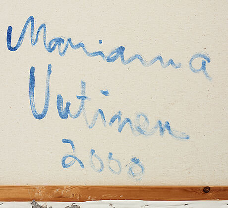Marianna uutinen, acrylic and mixed media on canvas, signed and dated 2000 on verso.