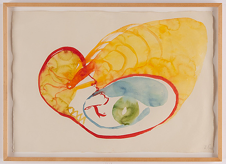 Ulf rollof,triptych, watercolour, signed and dated -98.