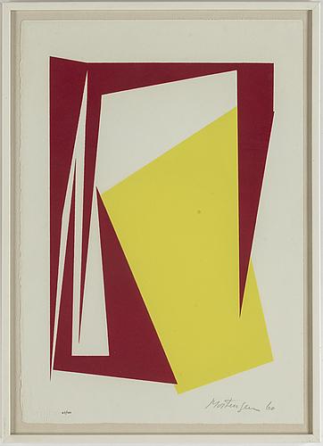 Richard mortensen, silkscreen in colours, 1960, signed 47/200.