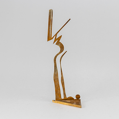 Arne tengblad, sculpture, brass, 1983, signed 15/30.