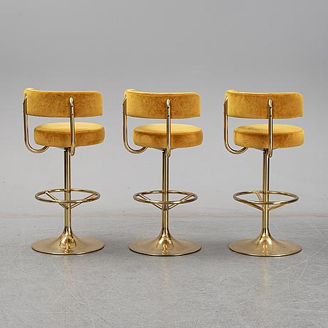 Three barstools, johansson design.