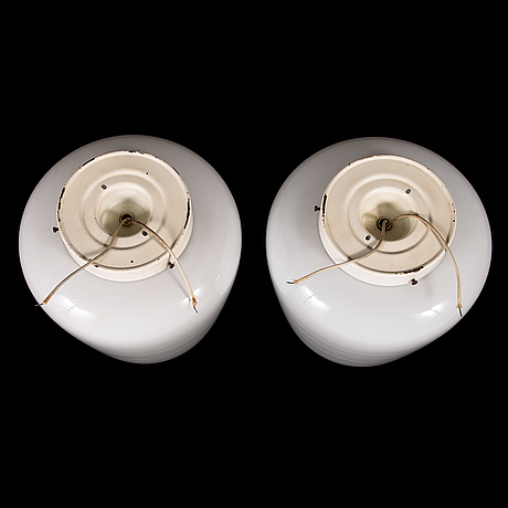 Lisa johansson-pape, a pair of 1950's '70-001' ceiling lights for orno.