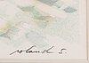 Roland svensson, färglitografi, signerad hc x/xxx.