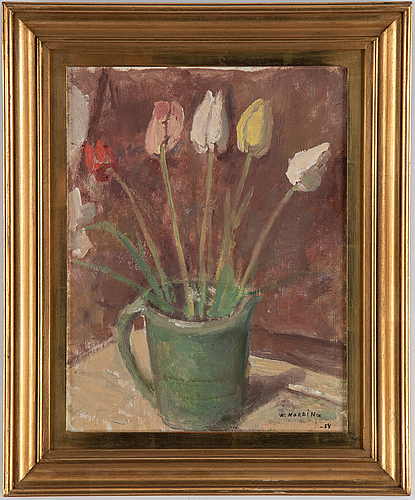 William nording, oil on panel, signed and dated -54.