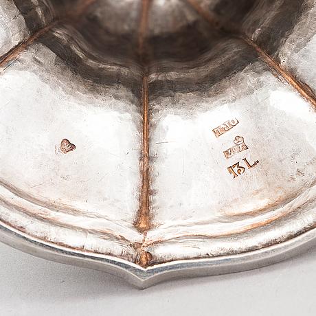 A 19th-century silver sugar bowl, maker's mark of olof robert lundgren, turku, finland 1857.