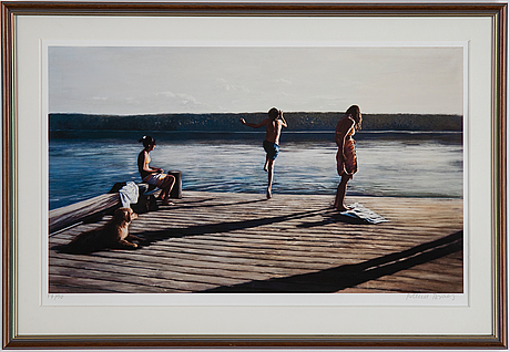 Karin broos, giclée print, signed and numbered 17/90.