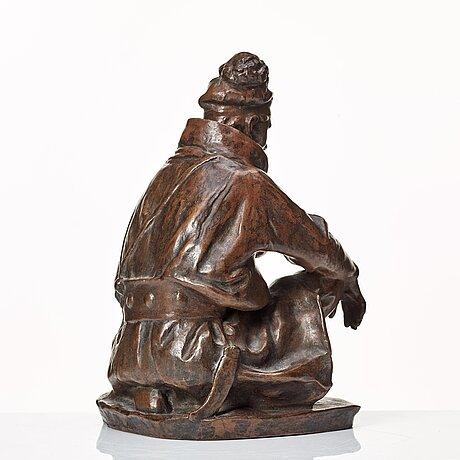 """Christian eriksson, """"sittande lapp"""" (= sitting laplander)."""