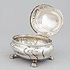 A swedish 18th century silver box, mark of andreas cron, malmo 1755.