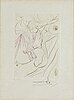 Salvador dali, drypoint etching, signed and numbered vi/xxv.