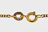 Goldchain, 18k gold with 2 pendants, 6,1 g, length approx 61 cm.