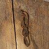 HÄngskÅp, allmoge, kristianstadsmålaren, bär årtal 1834.