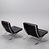 Ludwig mies van der rohe, a pair of 'barcelona' lounge chairs, knoll.