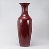 A massive red chinese porcelain floor vase, modern production.