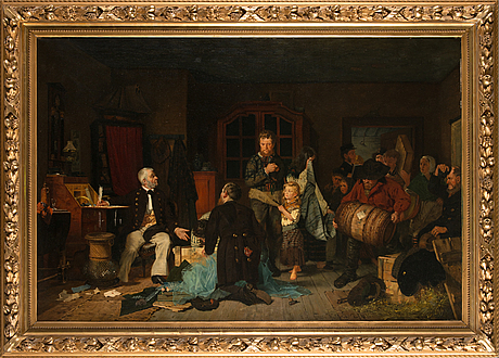 Gillis hafström, oil on canvas, signed and dated 1876.