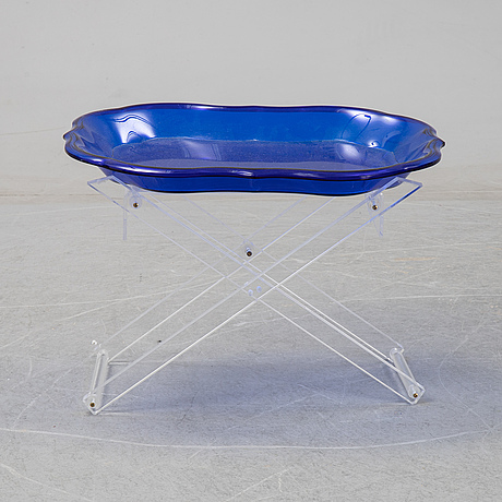 A spisani plastic tray table, italy.