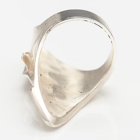 "Björn weckström, a sterling silver ring ""gonda's mask"". lapponia 2002."