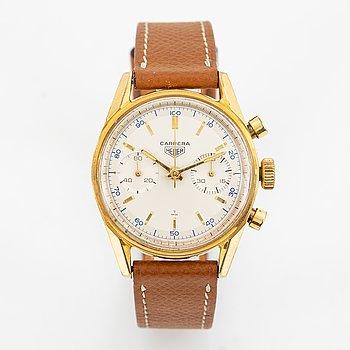 Heuer, Carrera 45, wristwatch, chronograph, 36 mm.