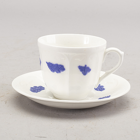 "Servis 34 dlr ""blå blomst"" gustavsberg 1900-talets andra del porslin."