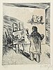 Evert lundquist, dry point etching, 1955, signed and numbered 3/50.