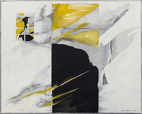 Gunnar johnsson, oil on canvas, signed.