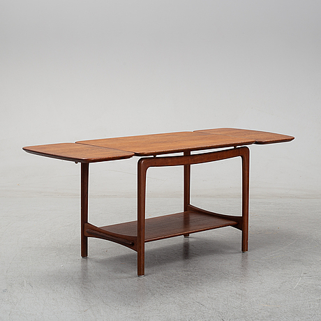 Peter hvidt & orla mølgaard nielsen, a model 516 teak  coffee table with drop leaves from france & daverkosen.