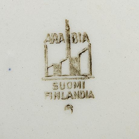 """Reinhard richter, servis, ca 70 delar, """"masema"""", arabia flintgods finland 1941-64."""