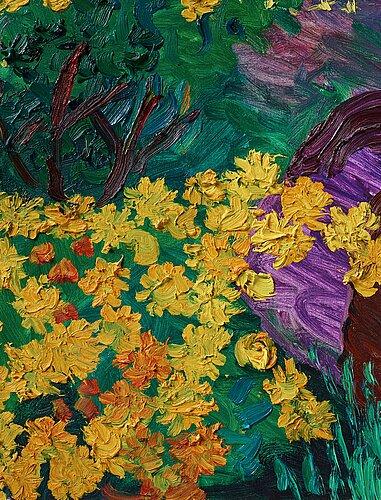 """Inge schiöler, """"gula blommor""""."""