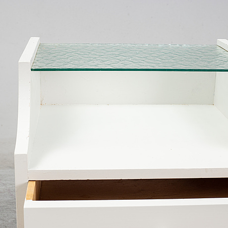 A pair of bedside table, mid 20th century.