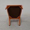 Josef frank, a set of 6 cherrywood '1165' chairs for firma svenskt tenn.
