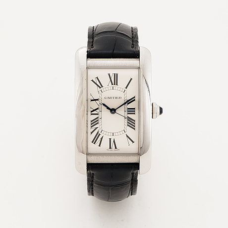 Cartier, tank américaine, wristwatch, 26 x 45 mm.