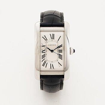 Cartier, Tank Américaine, wristwatch, 26 x 45 mm.