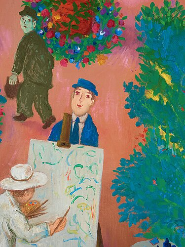 """Lennart jirlow, """"konstnärens trädgård""""."""