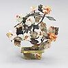 Bordsdekoration, olika stenarter, kina 1900-talets senare hälft.