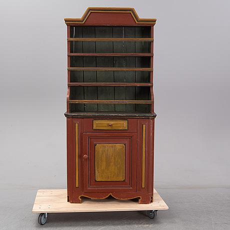 Skåp, allmoge, rokokostil, 1800-tal.