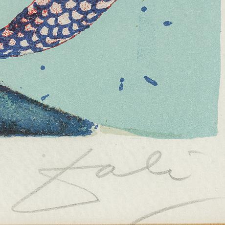 Salvador dalÍ, colour lithograph, 1966, signed, epreuve d'artiste.