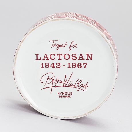 "Björn wiinblad, skål med lock, ""lactosan 1942-1967"" nymölle denmark."