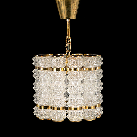 A late 20th century chandelier for konsthantverk tyringe.