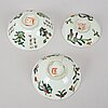A set of 18 chinese bowls, and 3 covers, china, late qing and early 20th century.