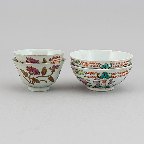 A set of 15 chinese bowls, 20th century.