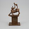 Bror marklund, sculpture, bronze, signed and dated -40. numbered 4/10.