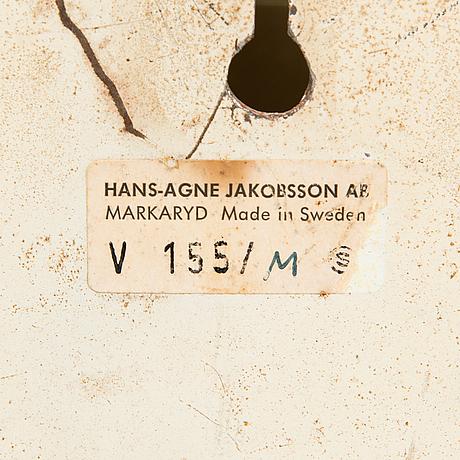 Hans-agne jakobsson, vägglampa, modell v155/m, markaryd 1960-tal.