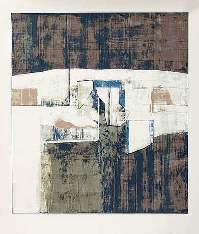 Anders österlin, lithograph in colours signed and numbered 113/200.