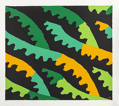 Lennart rodhe, färglitografi signerad daterad och numrerad 1991 29/50.
