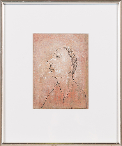 Olavi vaarula, mixed media, signed and dated -74.