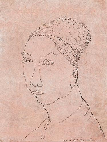 Olavi vaarula, mixed media, signed and dated -74.