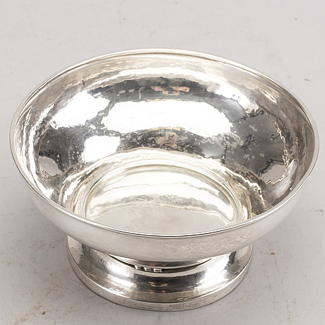 Johan rohde, a sterling silver bowl from georg jensen, design 414a.