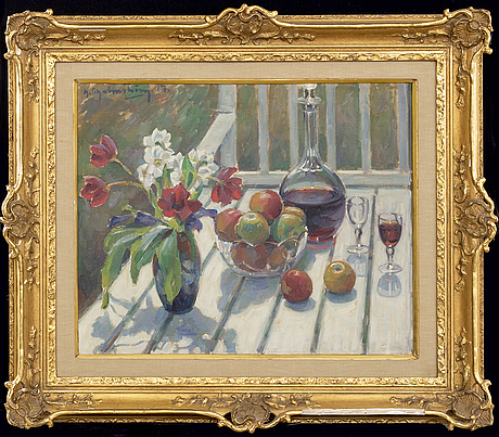 Henning malmström, a signed and dated oil on canvas.