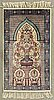 An old silk carpet from tunisia, ca 108 x 65 cm.