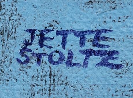 Jette stoltz, a signed oil on canvas.